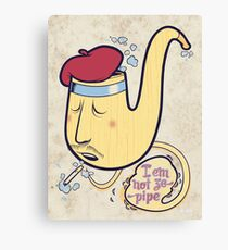 Not ze Pipe Canvas Print