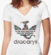 Camiseta entallada de cuello en V dracarys
