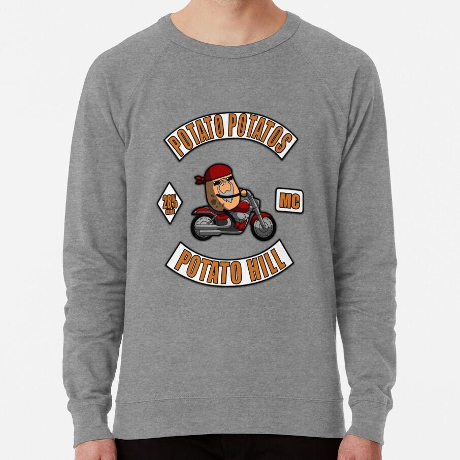 Potato Potatos MC - 3 Piece Motorcycle Club Patch Lightweight Sweatshirt
