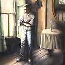 Man by the window by Lubna