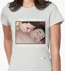 Canadian Lip Massage with Panel Women's Fitted T-Shirt
