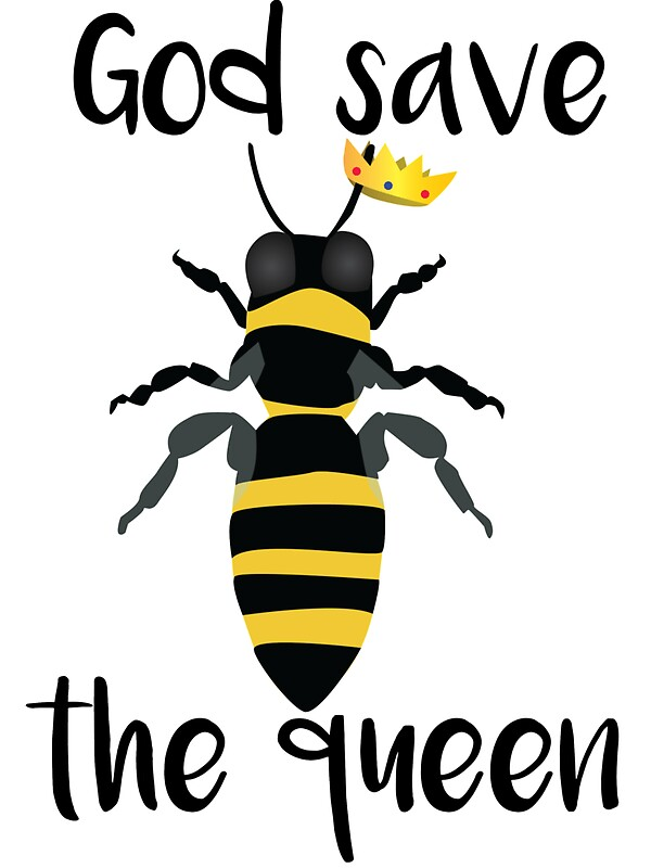 Quot God Save The Queen Bees Quot Stickers By Kndll Redbubble