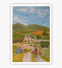 Rosie McCann Mourne Mountains scene Sticker