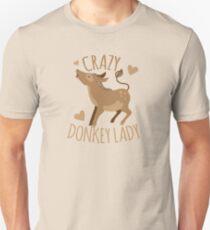 Crazy Donkey Lady Unisex T-Shirt