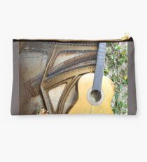 Guitar With Piano Innards Studio Pouch