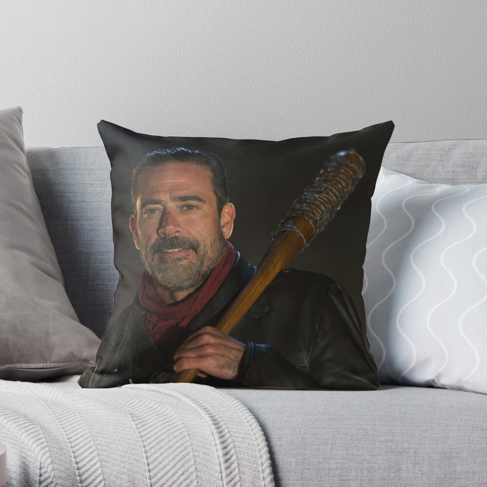 Quot Negan Holding Lucille The Walking Dead Quot Throw Pillow By