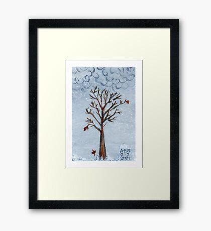 Remembering Winter Framed Print