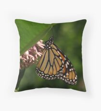 Just a Monarch Throw Pillow