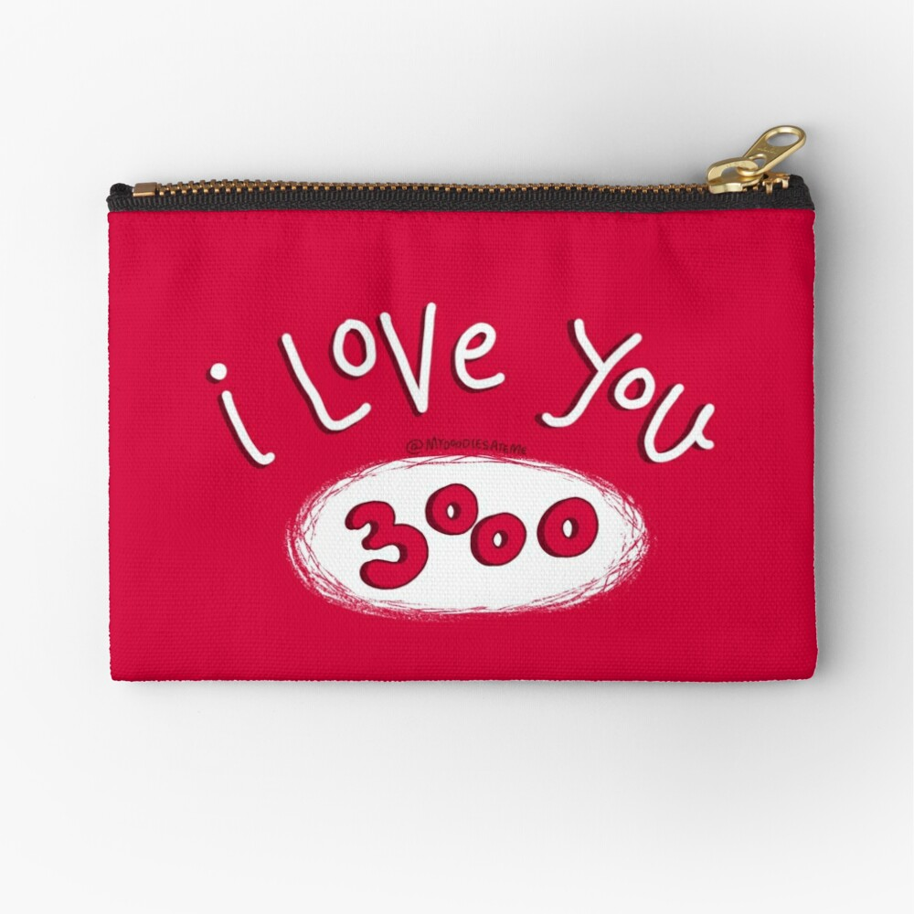I love you 3000 - Endgame Zipper Pouch
