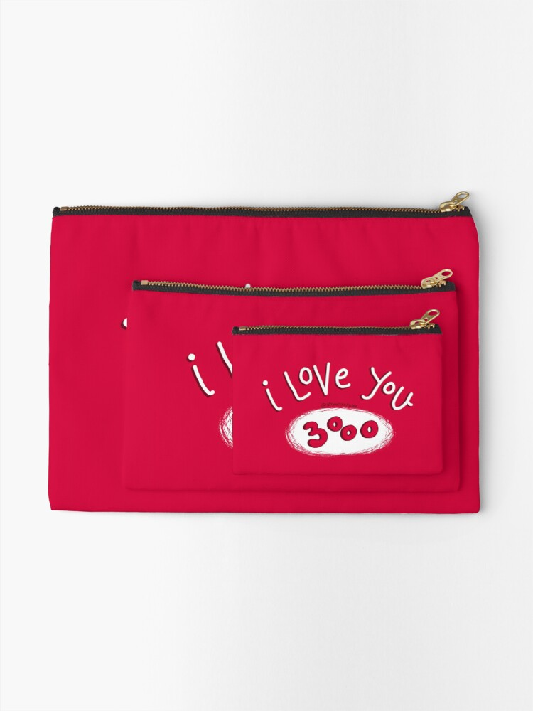Alternate view of I love you 3000 - Endgame Zipper Pouch
