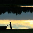 Boat Silhouette by Susan Blevins