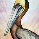 Good Vibes Pelican by Pam Utton