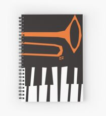Jazz Trombone and Piano Spiral Notebook