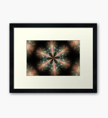 Fireworks Kaleidoscope Framed Print