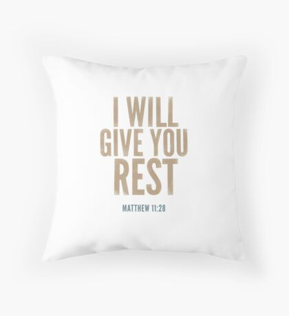 I will give you rest. - Matthew 11:28 Floor Pillow