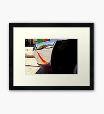 Caution Bumper Bumped - Front Framed Print