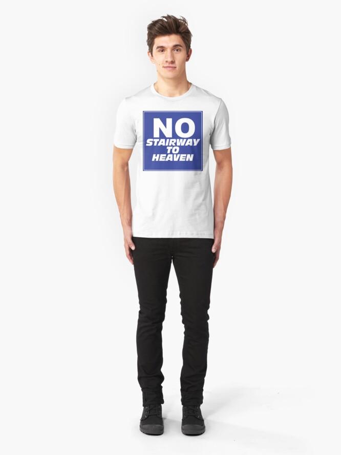Alternate view of Wayne's World No Stairway to Heaven Sign Slim Fit T-Shirt