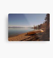 Yellow Boat on Lake Tahoe Metal Print
