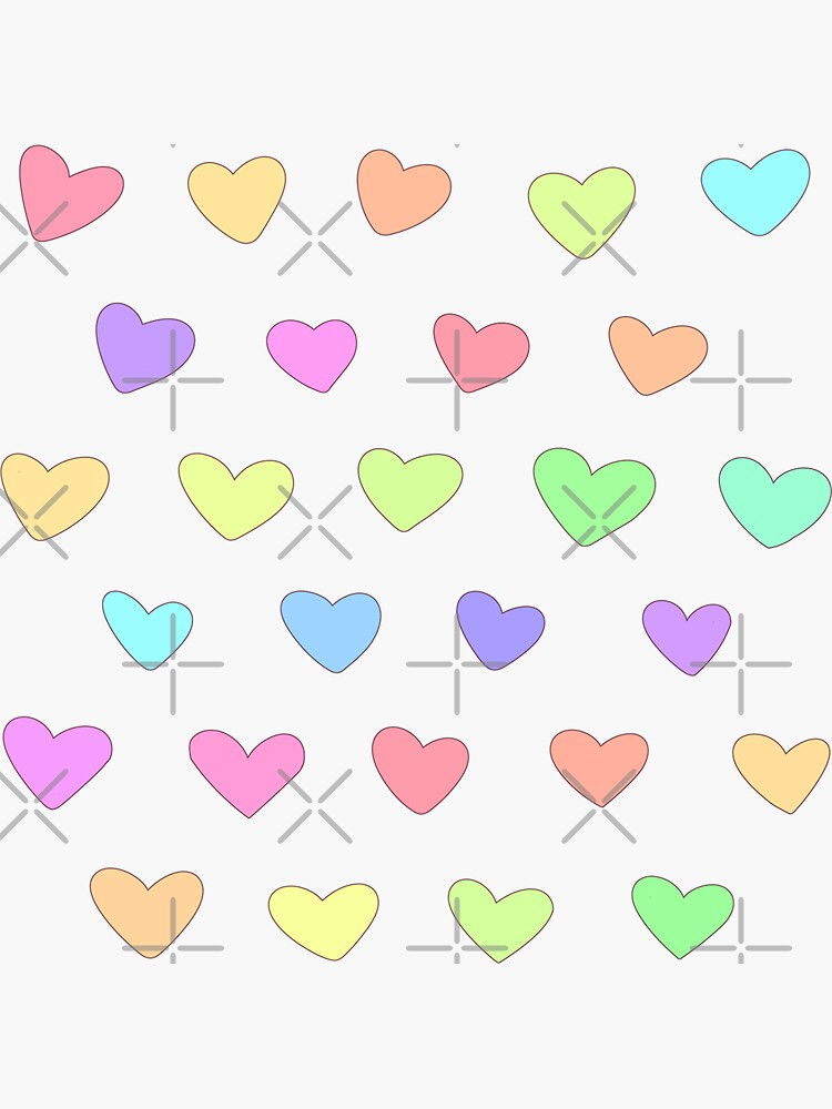 Candy Heart Doodles by Chorvaqueen