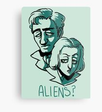 Aliens? Metal Print
