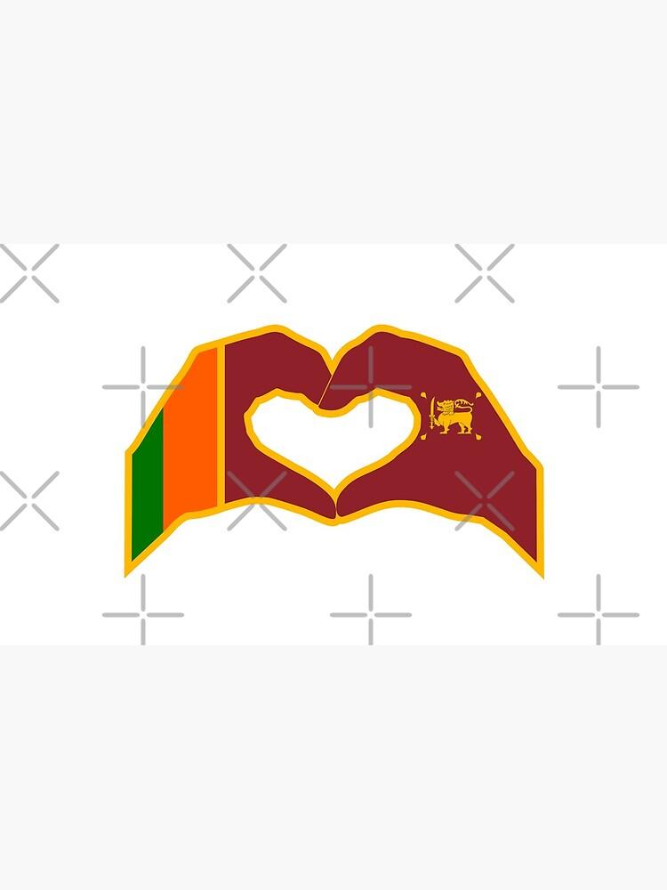We Heart Sri Lanka Patriot Flag Series by carbonfibreme
