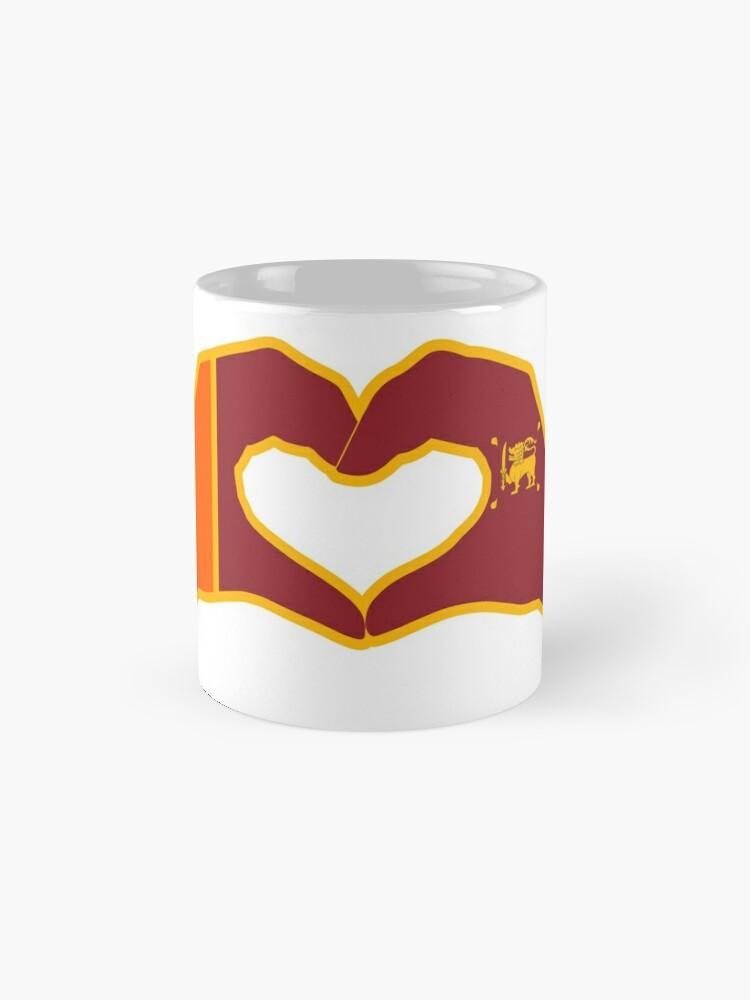 Alternate view of We Heart Sri Lanka Patriot Flag Series Classic Mug