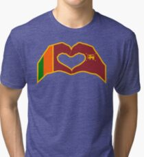 We Heart Sri Lanka Patriot Flag Series Tri-blend T-Shirt