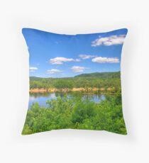 Wisconsin River  Throw Pillow
