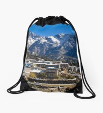 Village at the End of the World Drawstring Bag