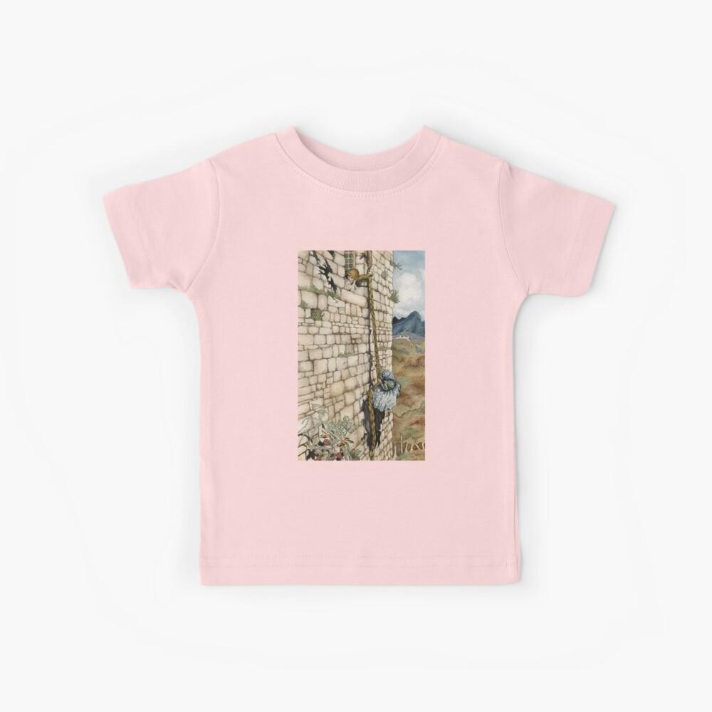 Acuarela Homenaje a Rapunzel de Arthur Rackham Camiseta para niños