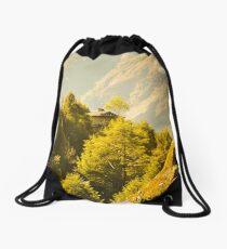 Himalayan House Drawstring Bag