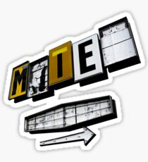 Motel Sticker