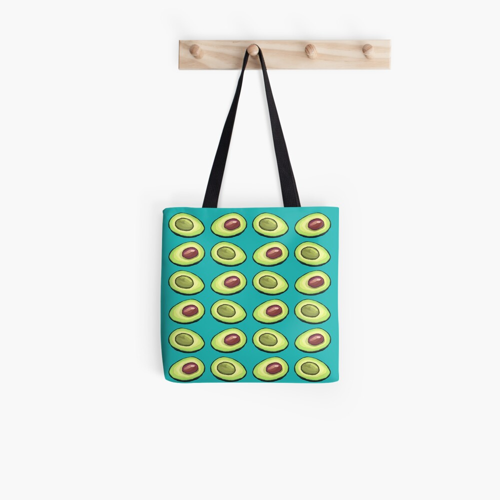 Avocado on Turquoise summer Tote Bag