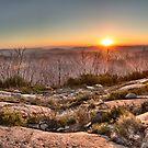 Panoramic Sunset at Lake Mountain by Vicki Moritz