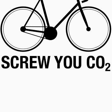 SCREW YOU CO2 | Black Ink by TweetTees