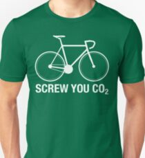 SCREW YOU CO2 | White Ink Unisex T-Shirt