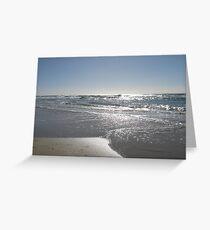 Silver Beach Greeting Card