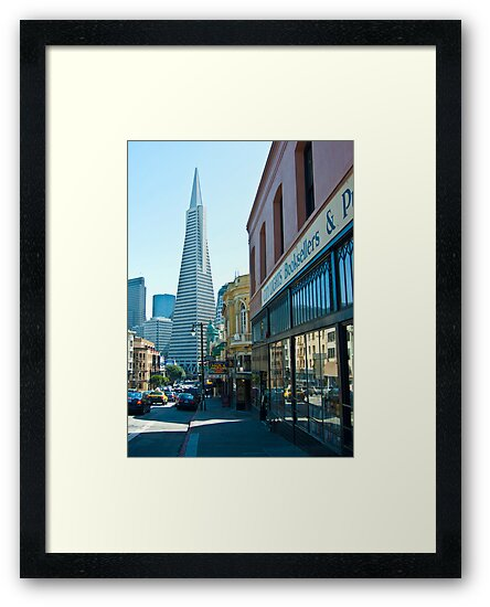 City Lights Bookstore and TransAmerica Pyramid by Tim Topping