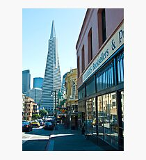 City Lights Bookstore and TransAmerica Pyramid Photographic Print