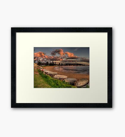 Beached - Long Reef, Sydney (25 Exposure HDR Panoramic) - The HDR Experience Framed Print