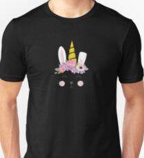 Einhorn-Osterhasen-Kaninchen-Geschenk drucken Slim Fit T-Shirt