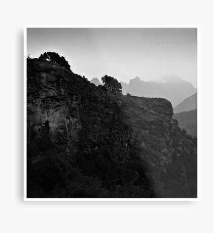 The Wall and The Mist Metal Print