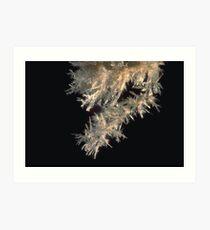 Cave crystal stalactite, Thailand Art Print