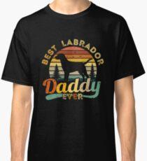 Camiseta clásica Best Labrador Daddy Ever Retro Vintage
