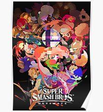 Splatoon 2 Super Smash Bros. Ultimate Poster Poster