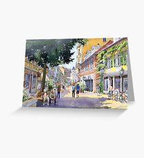 Germany Baden-Baden Lange Strasse Greeting Card