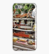 The Wall of Old Chainsaws iPhone Case/Skin