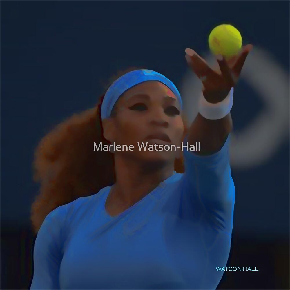 Serena Williams - Vorbereitung auf den Service von Marlene Watson