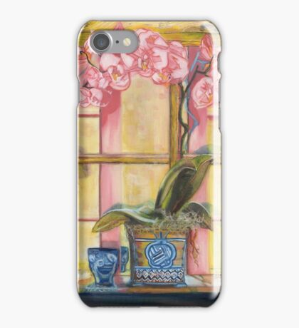 Elizabeth's Pink Orchid in a Sunny Window iPhone Case/Skin