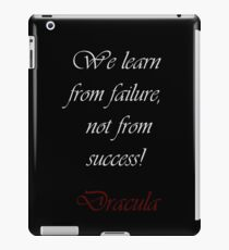We Learn From Failure iPad Case/Skin